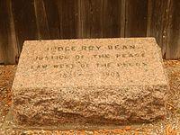 Roy Bean grave, Del Rio, TX DSCN0890.JPG