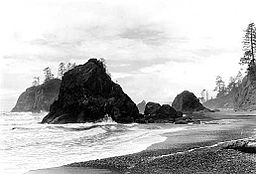 A photo of Ruby Beach taken in 1936.