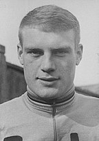 Rudi Altig wearing a cycling jumper