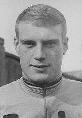 Black and white photograph of Rudi Altig.