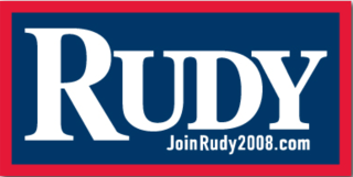 Rudy Giuliani 2008 presidential campaign U.S. Presidential Campaign