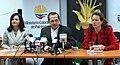 Rueda de prensa conjunta del Canciller Patiño y las Ministras Espinosa y Aguiñaga, sobre los resultados de la COP 16 en Cancún (5257961073).jpg