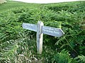 Rugged path signpost - geograph.org.uk - 1719865.jpg