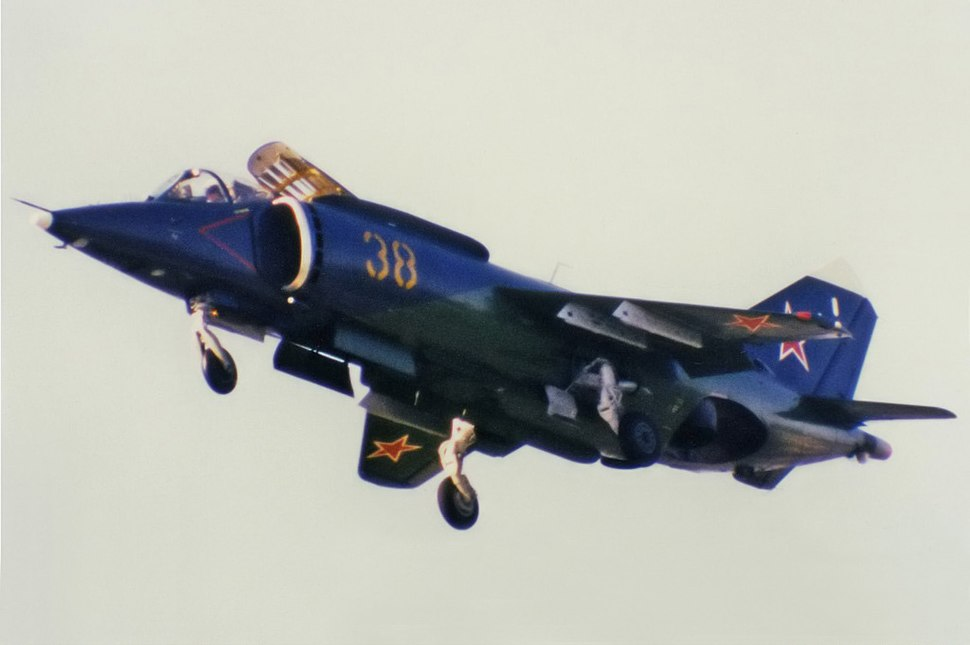 Russian Navy Yakovlev Yak-38 at 1992 Farnborough