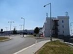 Ruzyně, K letišti, hotel Ramada a terminál 3 (01).jpg