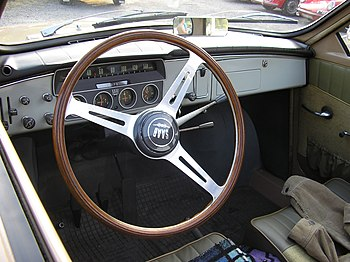 Interior in a short nose SAAB 96. Photographed...