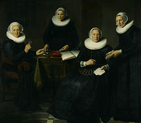 Two regentesses and two mother-overseers of the Amsterdam Spinhuis