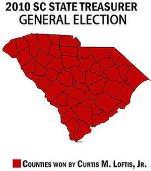 Curtis Loftis - Image: SC Treasurer General Election Map