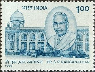 S. R. Ranganathan - Ranganathan on a 1992 stamp of India