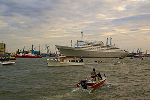 "English: Arrival of ""Rotterdam"" on 4..."