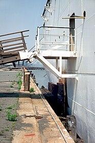 SS Stevens B-deck gangway from pier 01.jpg