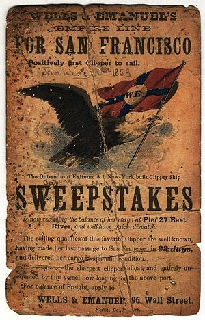 Sweepstakes (clipper) - Sailing card