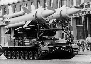 Transporter erector launcher - A Soviet Union SA-4 TEL