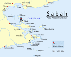 Location of the Batik Kulambu Island.
