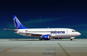 Sabena - Sabena Boeing 737-300 OO-SYB illustrated by Nop Briex