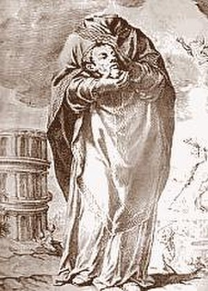 Cephalophore - Saint Aphrodisius, a martyr of Alexandria, venerated at Béziers