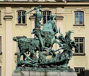 Saint George and the Dragon (Notke) - Bronze replica in Stockholm (1912)