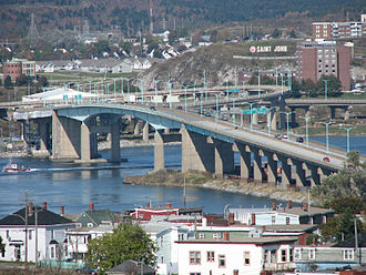 New Brunswick Route 1 - Saint John Harbour Bridge
