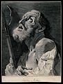 Saint Matthew. Line engraving by M. Pitteri after G.B. Piazz Wellcome V0032658.jpg