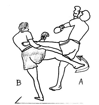 Low kick - Image: Saisie fauchage