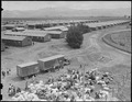 Salinas, California. Bird's eye view of quarters and baggage at Salinas Assembly center. - NARA - 536169.tif