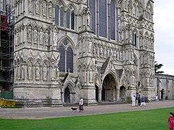 Parte de la fachada de la catedral.