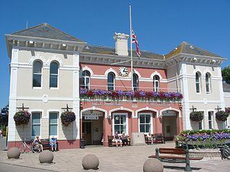 Saint Aubin, Jersey - The Parish Hall of St. Brelade is situated in St. Aubin