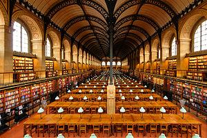 Henri Labrouste - reading room of the Sainte-Geneviève library in Paris.