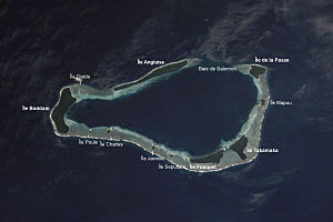 Satellitenbild der Salomon Islands