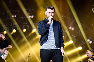 "Sam Smith (singer) - Smith performing ""Stay With Me"" in Berlin, Germany in 2015"