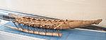 Samoa, seven paddle canoe, model in the Vatican Museums.jpg