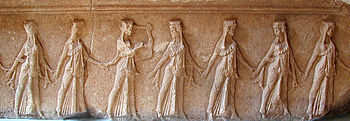 Dancer's Frieze from the Temenos (site plan number 14)