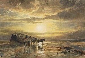 Samuel Bough - Loading the catch on the Berwick coast.jpg