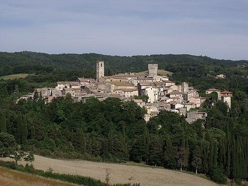 Panorama of San Casciano dei Bagni