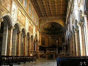 Pope Gregory IV - The interior of St Mark's Basilica in Rome, including the Byzantine mosaics commissioned by Gregory IV