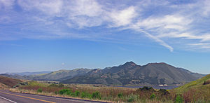 Sierra Madre Mountains (California) - Las Coches Mountain in the Sierra Madre, from SR 166.