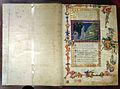 San gimignano, commedia di dante, xiv secolo, canto I (incontro con le 3 fiere), 1350 ca., pluteo 40.3 c1r, 01.JPG