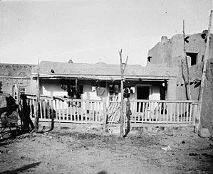 Santa Clara Pueblo, New Mexico - House at Santa Clara Pueblo, 1910