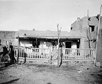 Santa Clara Pueblo, New Mexico - House at Santa Clara Pueblo, 1910