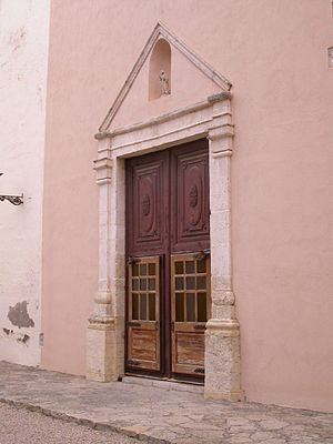 Bonastre - Santa Magdalena church door