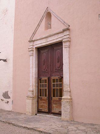 Bonastre - Santa Magdalena church door