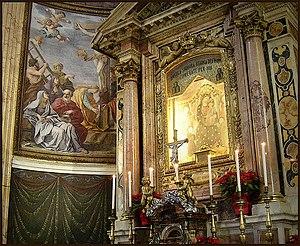 Santa Maria ai Monti - Detail of the high altar