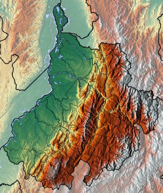 Santander Department - Image: Santander Topographic 2