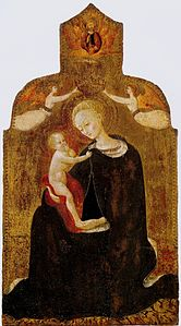 Sasetta. Madonna and Child with angels 1432-36 Berlin, Staatlische museen.jpg