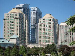 Scarborough City Centre Neighbourhood in Toronto, Ontario, Canada