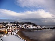 Scarborough in snow