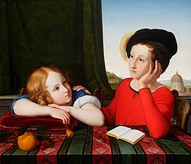 Portrait of Wieńczysław and Konstanty Potocki in childhood (detail).