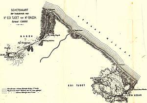Edi Expedition - Image: Schetskaart kuststrook Edi Tjoet