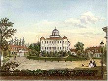 Sein Sterbeort: Schloss Carlsruhe in Oberschlesien (Quelle: Wikimedia)
