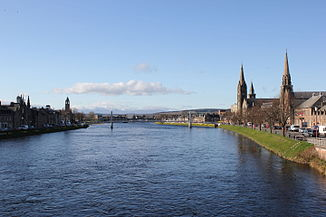 Der River Ness in Inverness, Schottland